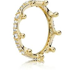 Pandora Authentic Shine #167119CZ-54 Enchanted Crown Ring with Clear CZ Size 7