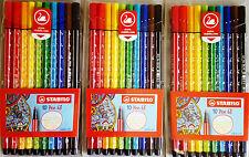 3x STABILO Pen 68 ETUI mit 10 Stiften FASERMALER
