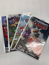 BOOM COMICS CARS LOT RADIATOR SPRINGS, ROOKIE 1-4 ADV OF TOW MATER 1-7 CARS 0-7