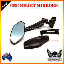 CNC black billet motorcycle rear view side mirrors Yamaha YZF R1 R6 R6S 1000 600