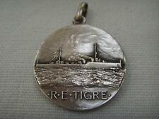 800 SILVER FOB MEDAL FRENCH DESTROYER NAMED R.E.TIGRE