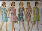 7025 Vintage Simplicity Sewing Pattern Misses One-Piece A-Line Dress 1960s