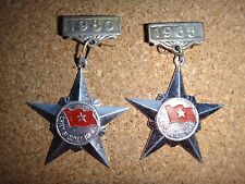 "2 VC Medals ""CHIEN SI QUYET THANG"" Resolve-To-Win Soldier Years 1980 & 1985"