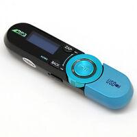 4Go Lecteur Baladeur MP3 + Dictaphone + Radio FM + Fonction Clé USB / Bleu