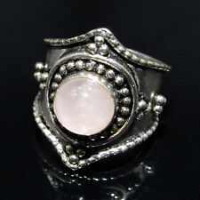 Ring Size U.S & Canada 9.50 With Natural Rose Quartz Gemstone Studded -CH 7075