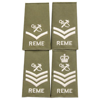REME GREEN ARTICIFIER PCS RANK SLIDES NEW IN PAIRS LATEST ISSUE