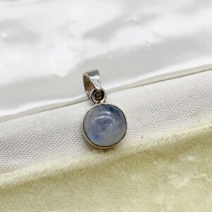 VINTAGE SOLID STERLING SILVER SCOTTISH CELTIC AGATE SMALL ROUND LADIES PENDANT