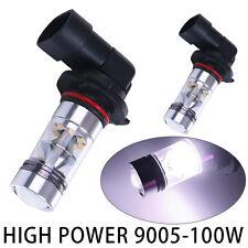 2x White 9005 9006 HB3 LED Light Cree 6000K 100W  Fog Driving  Bulb 9145 H10