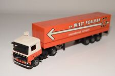 ( TEKNO VOLVO F10 TRUCK WITH TRAILER WILLY POELMAN NEAR MINT CONDITION