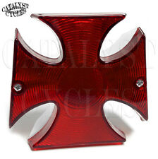 Maltese Cross Tail Light for Harley Tail Light Iron Cross Brake Light for Harley