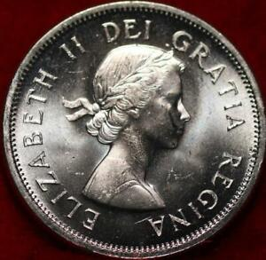 Uncirculated Proof 1964 Canada Silver 25 Cents Foreign Coin