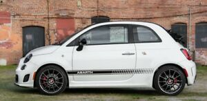 Fiat 500 595 Abarth Side Stripes Decals Graphics ANY COLOUR stickers