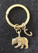 Personalized Bear Keychain Papa Bear Keychain Bear Keyring Animal Keychain