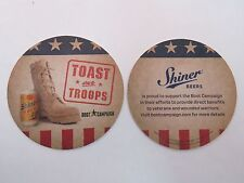 Beer Coaster <> Shiner Bock <*> Toast Our Troops! Boot Campaign Benefits To Vets