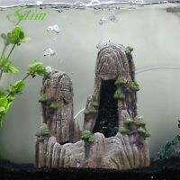 Tree aquarium ornament roots trunk decor rock stone ebay for Aquarium waterfall decoration