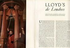 Coupure de presse Clipping 1951 Loyd's de Londres  (9 pages)