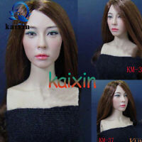 1:6 Ratio Female Soldier Head Carving Model KUMIK37 For 12'' Movable Doll