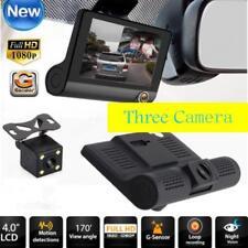 """3in1 4"""" HD 1080P Dual Lens Car Rearview Camera Video Recorder Dash Cam G-Sensor"""