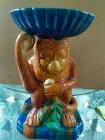 Vintage Capodimonte Like Monkey Pottery Statue Figurine... Chinese, Oriental