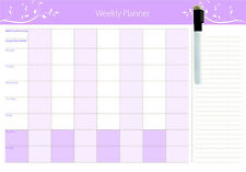 Full Magnetic Weekly planner  * Free Whiteboard Marker (Australian Made)