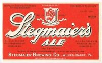 1930s Fink/'s Purple Ribbon Beer Label Tavern Trove Harrisburg Pennsylvania