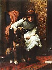 "SAINT BERNARD DOG St. / LEONBERGER FINE ART PRINT by Arthur J Elsley ""Victorian"""