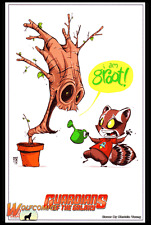 Guardians of the Galaxy Skottie Young Baby Variant Promo Lithograph , NEW