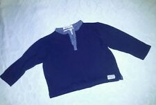 GREAT BOYS DESIGNER NAVY BLUE LONG SLEEVED TOP BY JASPER CONRAN AGE 18--24 MONTH