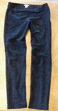 H&M Black Suede LOOK Effect Trousers Size 10 MEDIUM Smart Casual Lined VGC