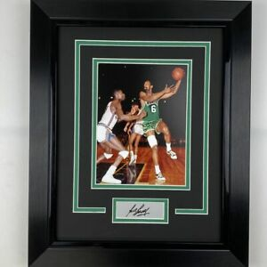 Framed Bill Russell Facsimile Laser Engraved Auto Boston Celtics Photo