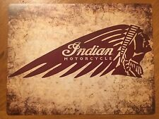 Tin Sign Vintage Indian Motorcycles 1