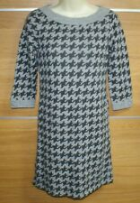 OASIS grey  houndstooth check  lambswool bled dress size 10