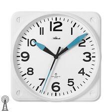 Atlanta 4381/0 Wanduhr Funk Funkuhr weiß schleichende Sekunde