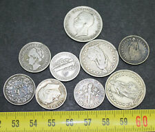 Ensemble de 9 monnaies du monde en Argent ( lot 044 )