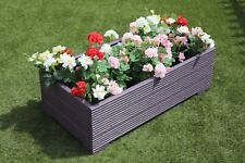1 METRE LARGE WOODEN GARDEN PLANTER TROUGH EXTRA WIDE IN CUPRINOL PURPLE DECKING
