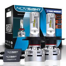 NOVSIGHT H4 HB2 9003 60W 10000LM 6500K Cool White Car LED Headlight Bulbs Kit