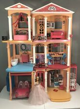 Lot Barbie Dream house Birthday wishes Doll & pink Convertible car play set