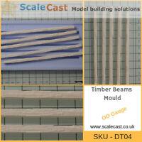 Model Railway Timber Beams mould - OO Gauge - DT04