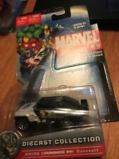 Maisto 2010 Marvel Universe Rhino Character Car NOC-Die-Cast Off Card