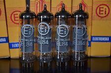 EL84 6BQ5 EI Yugoslavia - NOS platinum matched pair (Philips licence)