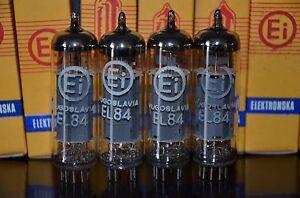 EL84 6BQ5 EI Yugoslavia - NOS platinum matched pair (Philips Mullard licence)
