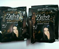 5 Packs Zeba Indian Herbal Henna Hina Black Hair Color Dye Amla Aritha Shikakai