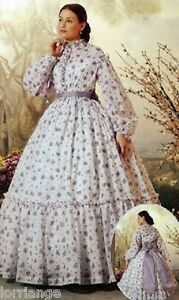 VICTORIAN/CIVIL WAR CUSTOM  MADE LINED BODICE AND SKIRT & MATCHING PARASOL