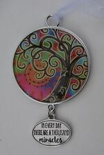 dd In every day there are a thousand miracles TREE OF LIFE ORNAMENT Car charm