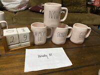 Rae Dunn Pink And White  Mugs
