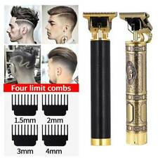 Rechargeable  ^Hair Clipper Cordless Trimmer USB T-Blade 0.0mm Zero Gapped Gold