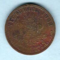 Australia Token. Stokes  - 1862 1d.. Melbourne Vic..  Arms & Vine..  aVF