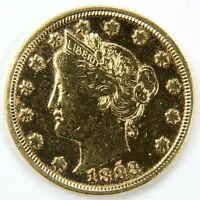 """1883 Gold Plated Racketeering """"No Cents""""  Liberty Head V Nickel"""