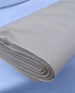 """2 METRES OF 63"""" WIDE CALICO FABRIC, COTTON MEDIUM WEIGHT, BEST VALUE! 1.60m wide"""