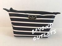 Kate Spade New York Poppy Jodi Cosmetics Make-Up Bag French Stripe.Free Shipping